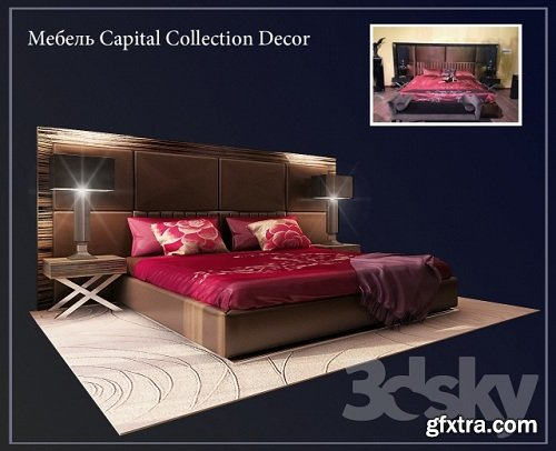 Capital Collection Decor Modern Ded 3d Model