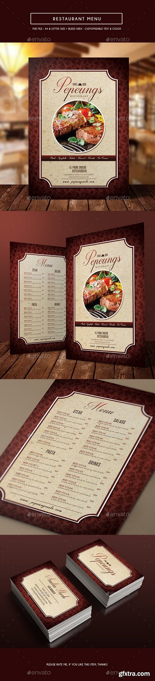 Graphicriver - Elegant Restaurant Menu 14144224