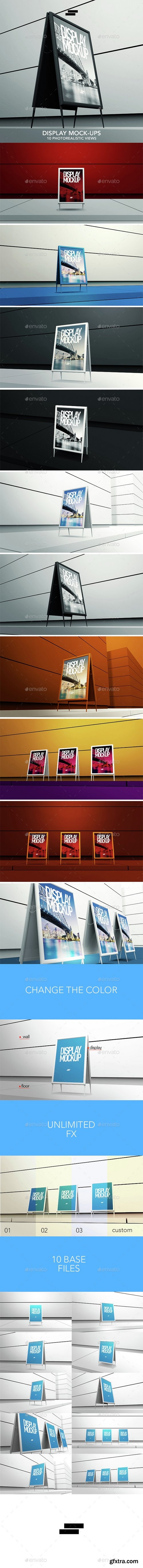 Graphicriver - 3D Display / Banner Outdoor Mock-ups 15128167
