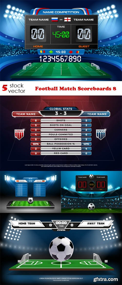 Vectors - Football Match Scoreboards 8