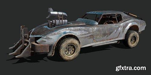 Post-Apocalyptic Vehicle 02 3d Model