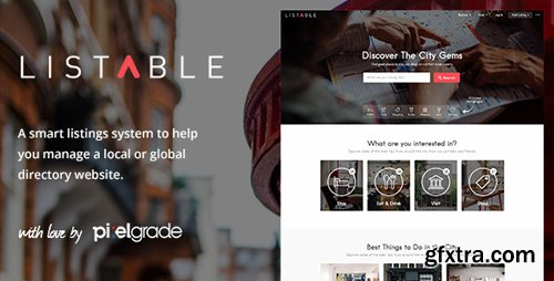 ThemeForest - LISTABLE v1.9.3 - A Friendly Directory WordPress Theme - 13398377