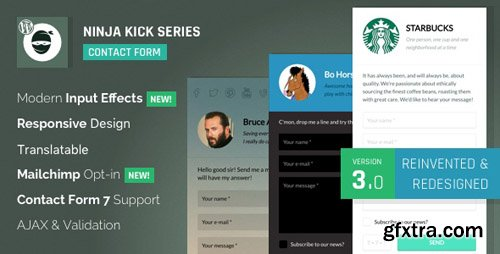 CodeCanyon - Ninja Kick: WordPress Contact Form v3.5.3 - 6598780