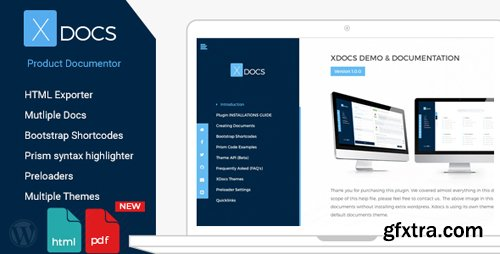 CodeCanyon - X Docs v1.0.5 - Wordpress Product Documentation Creator - 16986295