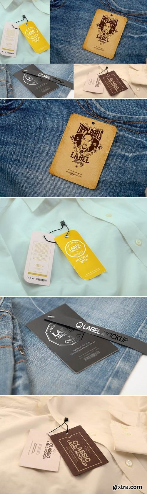 Label Tag Mockups