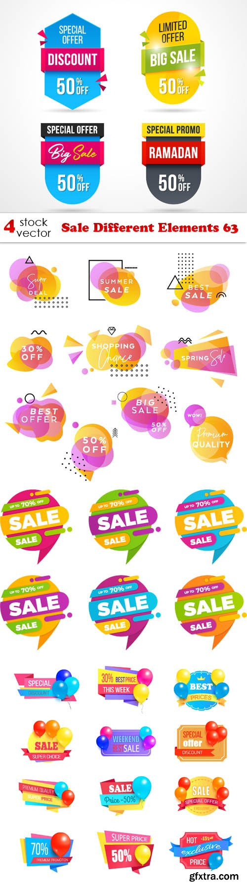 Vectors - Sale Different Elements 63