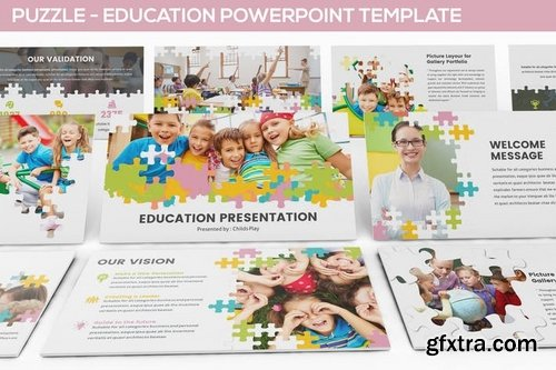 Puzzle - Education Powerpoint Template