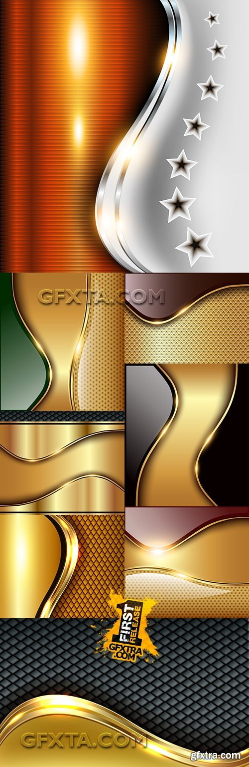Modern abstract backgrounds brilliant effect design 37