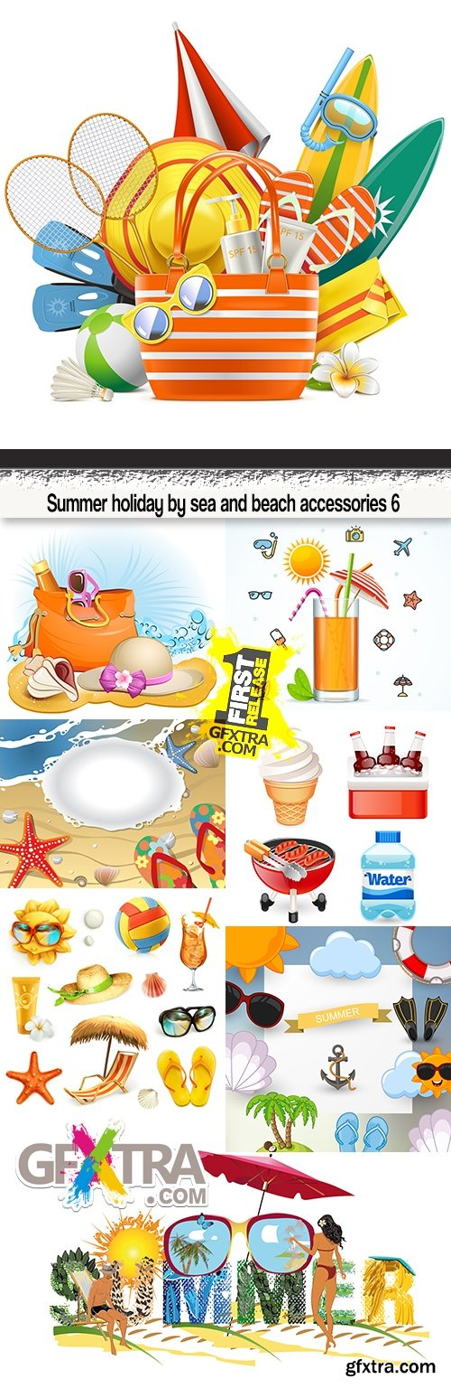 Summer holiday by sea and beach accessories 6