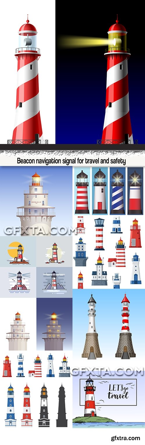 Beacon navigation signal for travel and safety