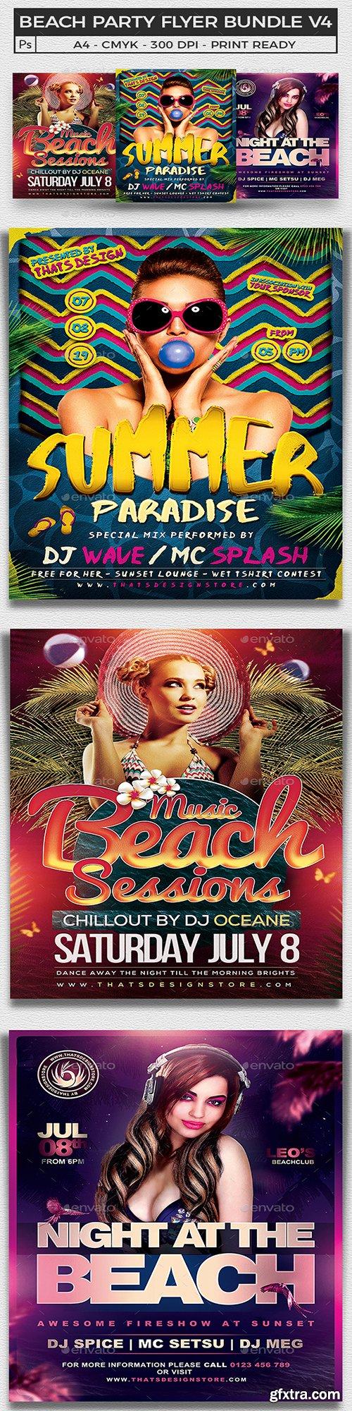 Graphicriver - Beach Party Flyer Bundle V4 19922557