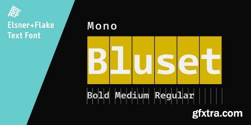 Bluset Now Mono Family - 6 Fonts