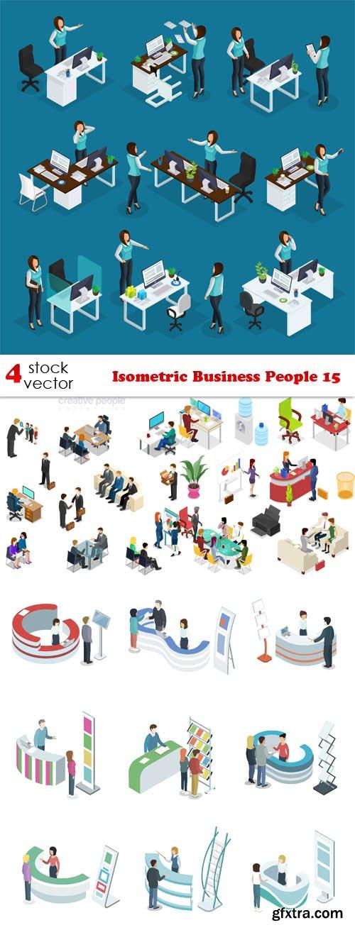 Vectors - Isometric Business People 15
