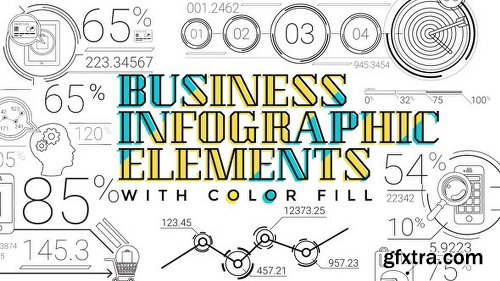 Videohive 30 Line Infographic Elements 18899154