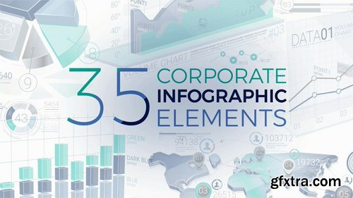 Videohive 35 Corporate Infographic Elements 20399847