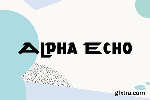 Alpha Echo Family - 2 Fonts