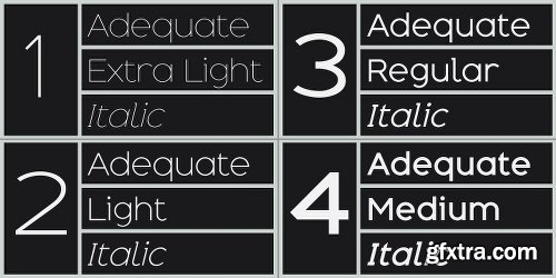 Adequate Font Family - 12 Fonts