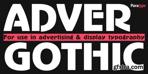 AdverGothic Font Family - 3 Fonts