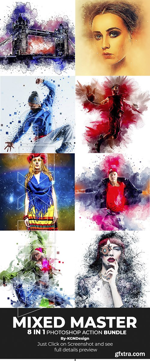 GraphicRiver - Mixed Master 8-in-1 Photoshop Action Bundle 22206109