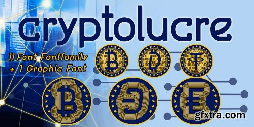 Cryptolucre Family - 12 Fonts
