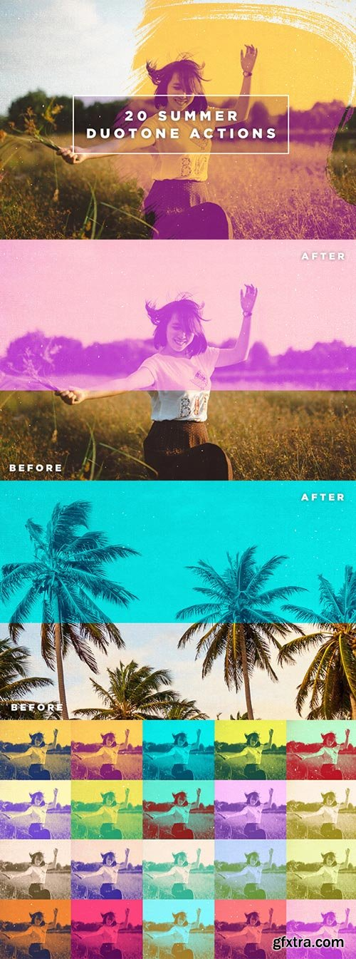 GraphicRiver - 20 Summer Duotone Actions - 16248553