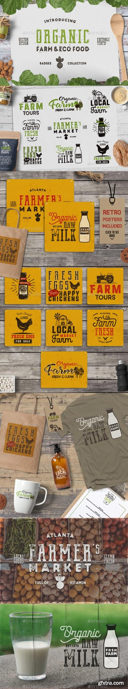 GraphicRiver - Organic Farm & Eco Food Badges - 19901385