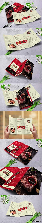 Meat Atelier Trifold Food Menu A4 & US Letter