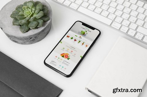 iPhone X Mock-Up Office Style
