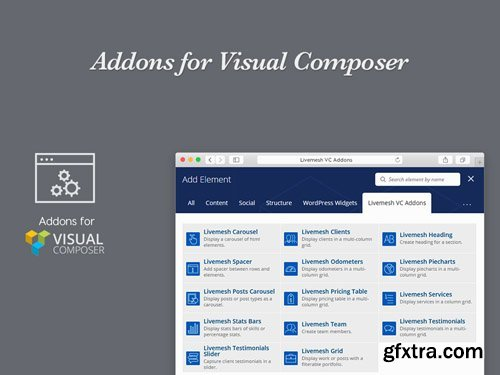 Addons for Visual Composer Pro v2.2.1 - LivemeshThemes