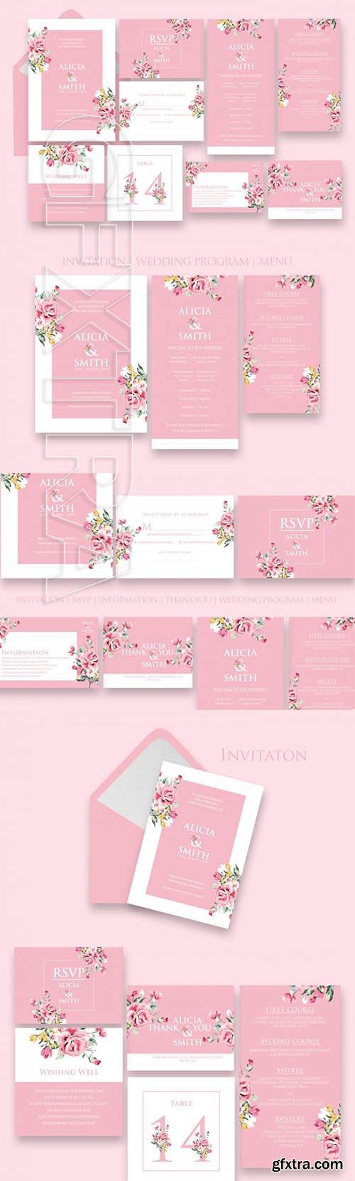 Stylish Wedding Invitation Set Ac8