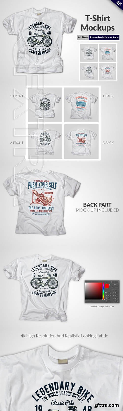 Apparel T-shirt Mock-up Set 3