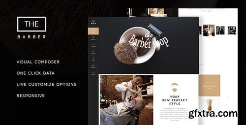 ThemeForest - The Barber Shop v1.6.6 - One Page Theme For Hair Salon - 13741313
