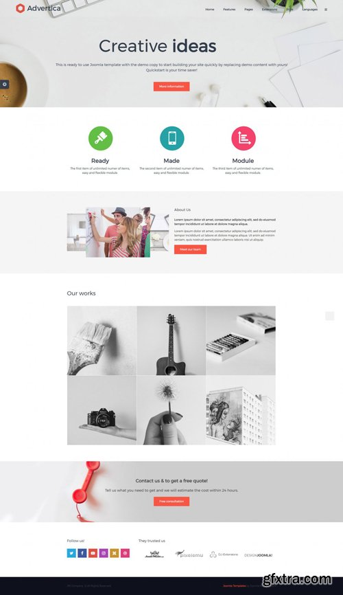 Joomla-Monster - JM Company v1.02 - Simple Business Joomla Template
