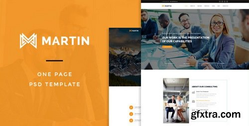 ThemeForest - Martin : One Page PSD Template - 15134305
