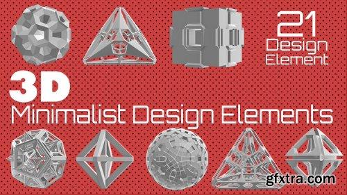 Videohive 3D Minimalist Design Elements Pack 16017464