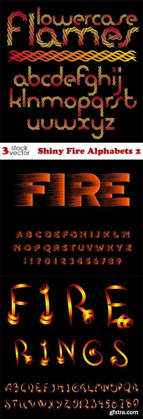 Vectors - Shiny Fire Alphabets 2
