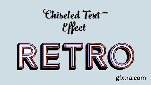 How to Design Chiseled Text Effect in Adobe Illustrator