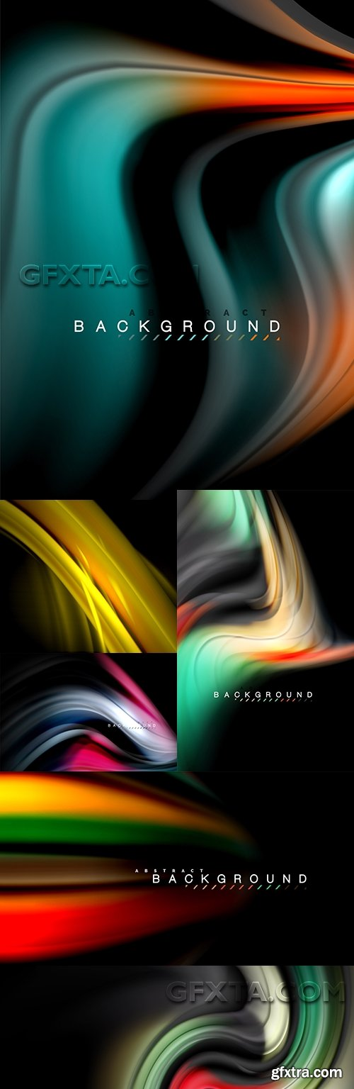 Modern abstract backgrounds decorative design 37