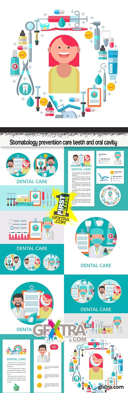 Stomatology prevention care teeth and oral cavity
