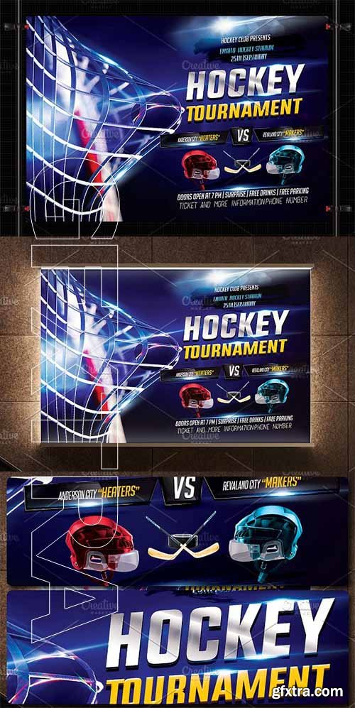 CreativeMarket - Hockey Flyer Template 2708352