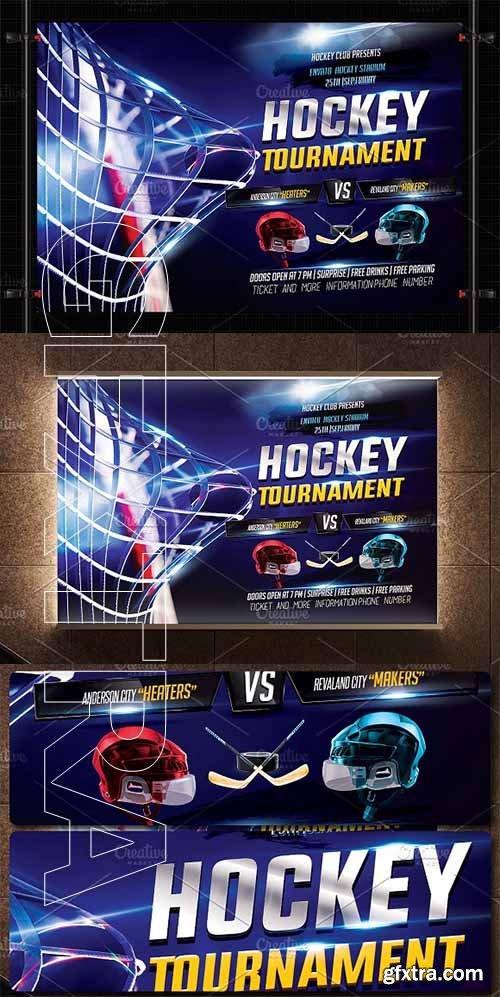 Creativemarket Hockey Flyer Template 2708352 Vector Photoshop