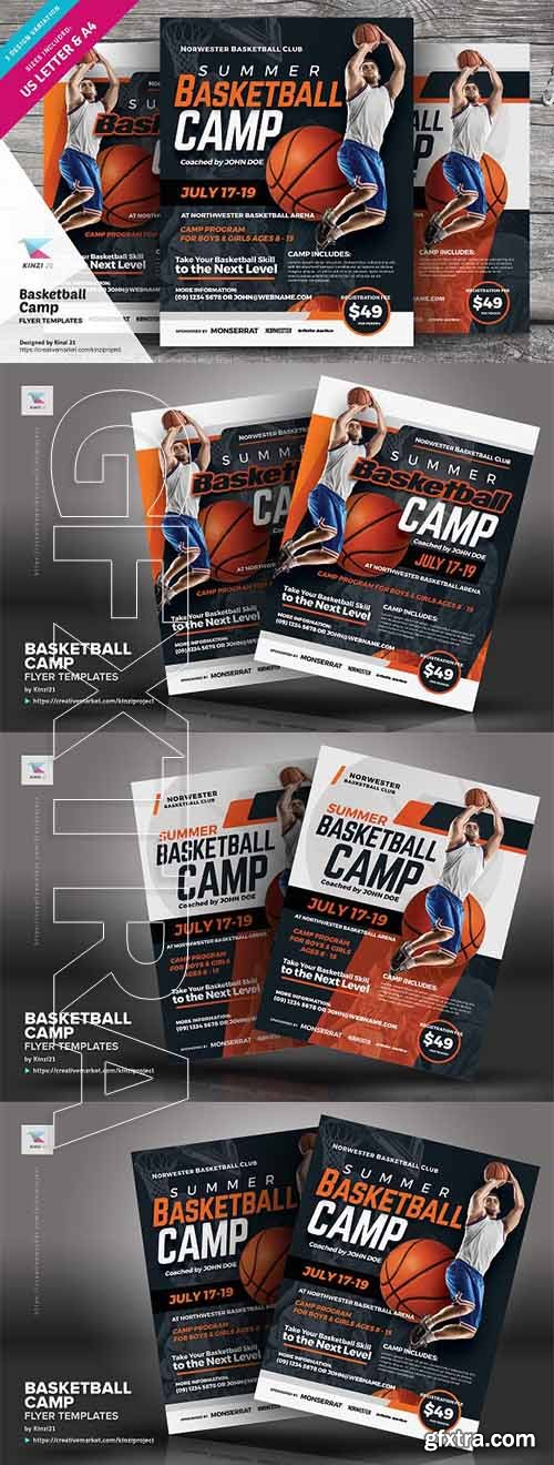 CreativeMarket - Basketball Camp Flyer Templates 2708445