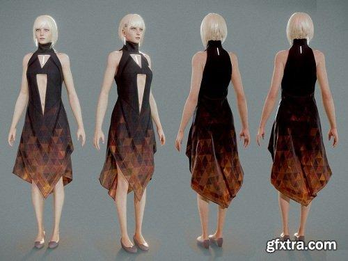 Scifi girl 3D model
