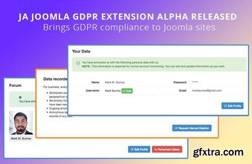 JoomlArt - JA Joomla GDPR Extension v1.0.2 - Joomla GDPR extension to brings GDPR compliance to Joomla sites