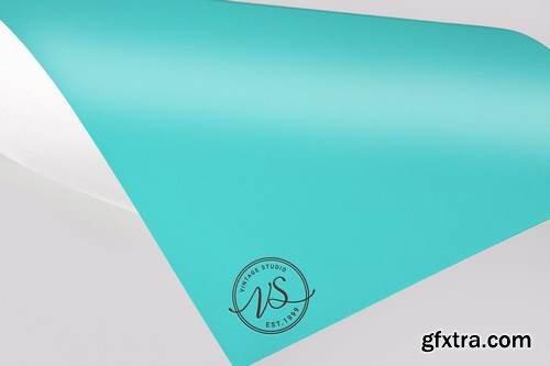 Color Paper Logo Mock Up