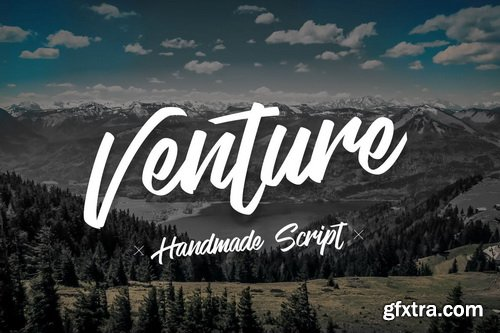 Venture - Handmade Font Script