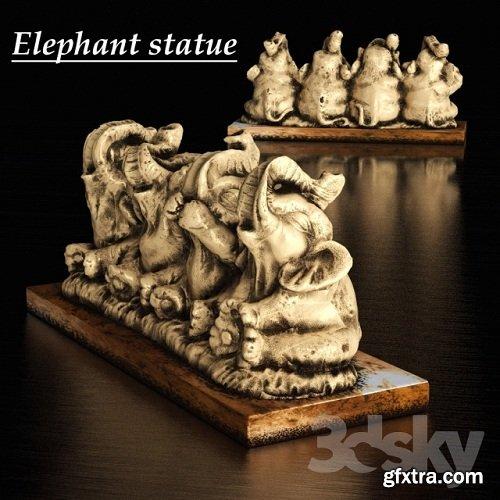 Figurine elephants 3d Model