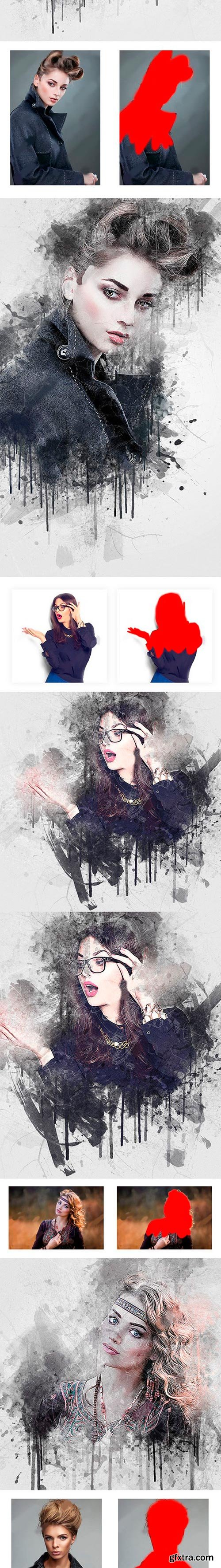Graphicriver - Imprassion Ink Photoshop Action 21285770