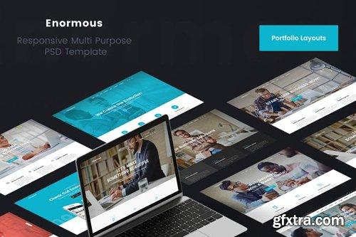 Enormous Portfolio & Showcase PSD Template