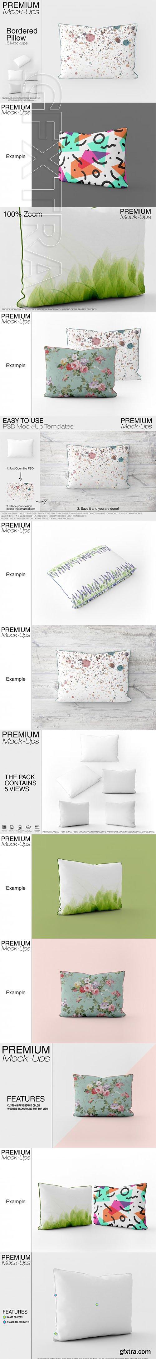 Bordered Pillow Mockup Pack 1
